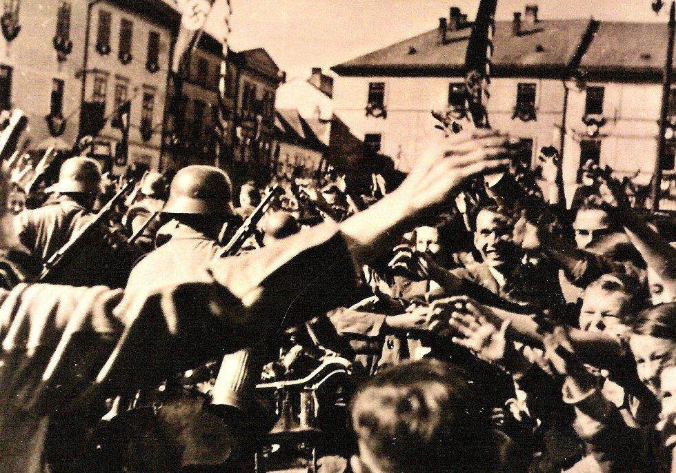 Obsazení Moravské Třebové německou armádou 10. října 1938.