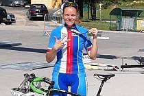 Monika Simonová na mistrovství světa.