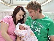 Mariana Plíhalová je první radostí pro Mariku a Jana z Hejnic. Když se 12. července v 20.45 hodin narodila, vážila 2,95 kg.
