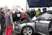 Roadshow Škoda Auto ve Střední škole automobilní Ústí nad Orlicí.