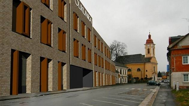 Vizualizace nové polikliniky v Lanškrouně.