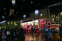 Vánoční kamion v Žamberku.
