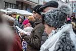 Vánoční trhy v Nádražní ulici v České Třebové.