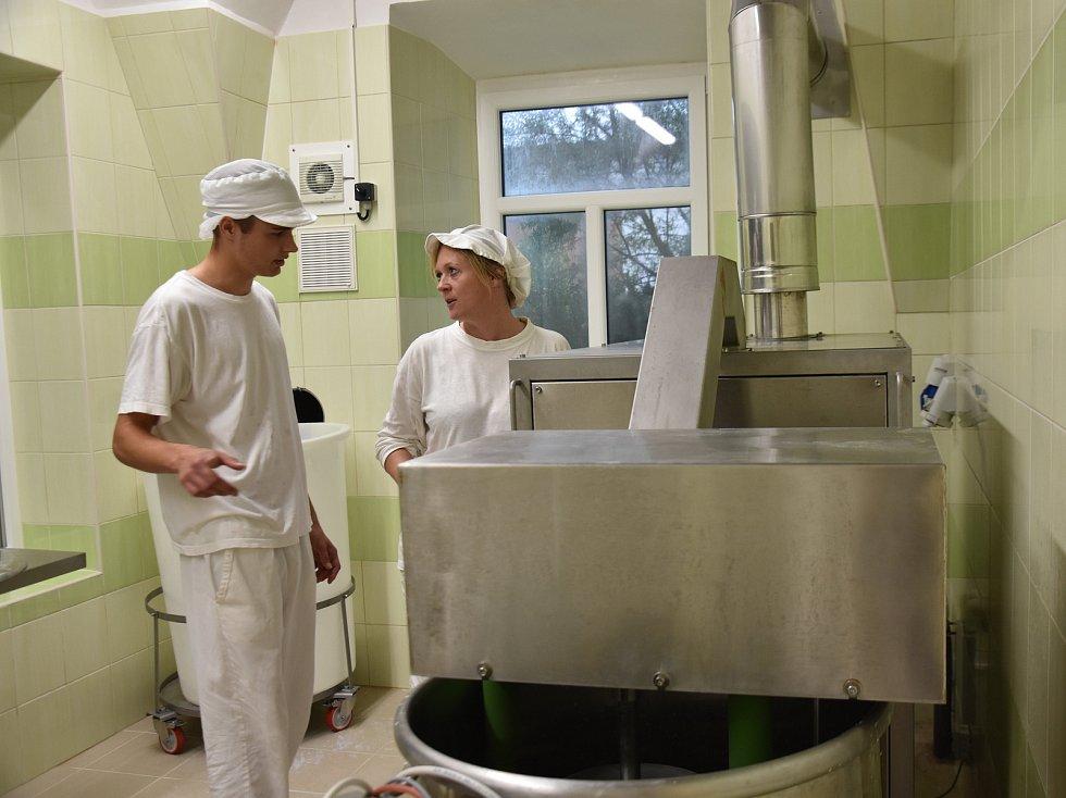 Mlékárna zemědělské školy v Lanškrouně.