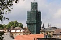 Oprava Choceňské věže ve Vysokém Mýtě.