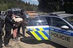 Snímky ze zadržení hledaného Libora Souhrady