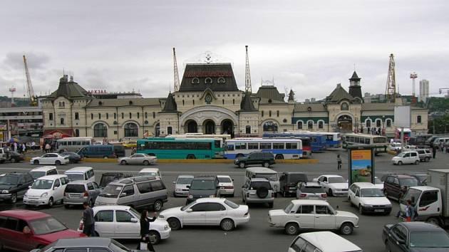Vlakové nádraží ve Vladivostoku.