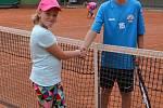 Sportovní příměstský tábor v areálu TK v České Třebové - tenisový turnaj jako součást příměstského táboru.