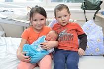 Štěpán Martinec je po Lucince a Pepíčkovi dalším dítětem Lucie a Josefa z Dolních Heřmanic. Chlapeček se s váhou 3, 330 kg narodil 14. 1. v 13.36 hodin.