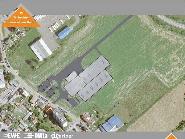 Vizualizace nového výrobního centra vHylvátech.