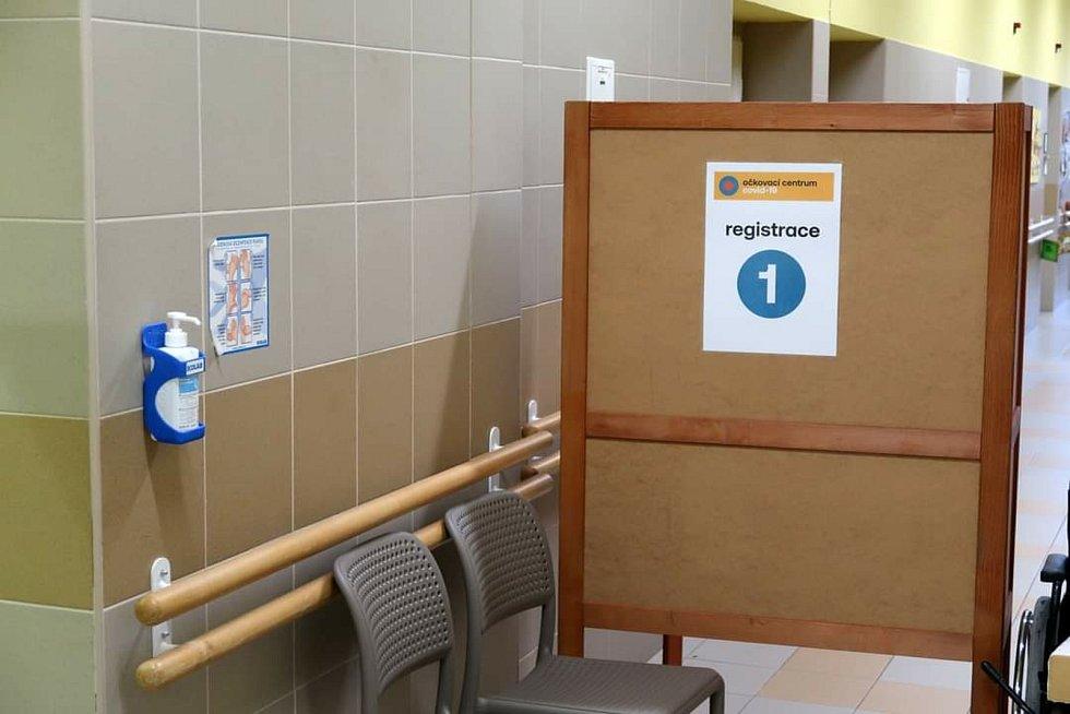 Očkovací centrum v Žamberku, zdroj fotografie: Město Žamberk