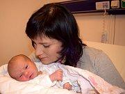 Kristýna Mlynářová bude doma s rodiči Michaelou a Tomášem v Brandýse nad Orlicí. Narodila se 27. 11 v 19.28, kdy vážila 3,590 kg.
