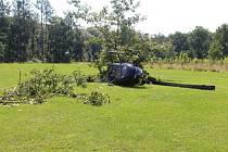 Vrtulník ze zřítil minulý rok v Žamberku.