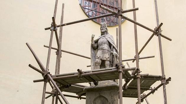 Socha sv. Václava.