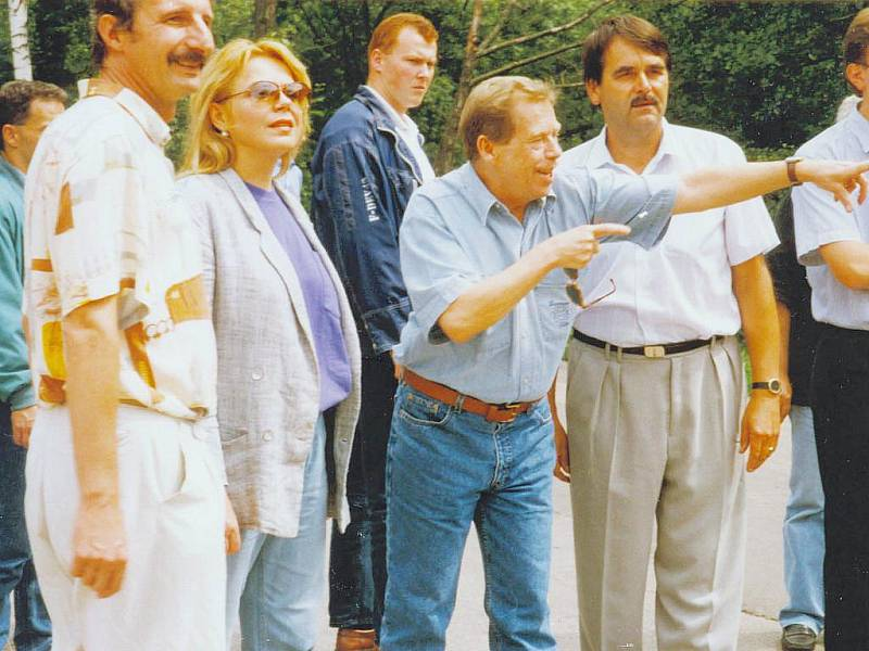 Václav Havel na Orlickoústecku.