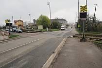 Železniční přejez na silinici I/43 v Lanškrouně