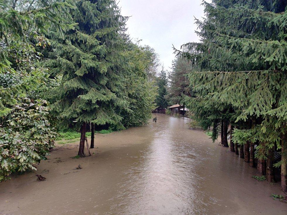 Středeční povodňová situace ve Vysokém Mýtě