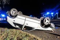 Dopravní nehoda v Dolní Dobrouči.