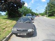 Vozka poškodil vozidlo