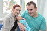Štěpán Vokál, tak pojmenovali syna Lucie a Martin z Chocně. Chlapeček poprvé spatřil světlo světa 20. listopadu v 9.19 hodin, kdy vážil 3,286 kg.