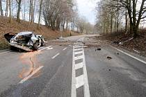 Tragická nehoda na silnici I/14 u Dlouhé Třebové.