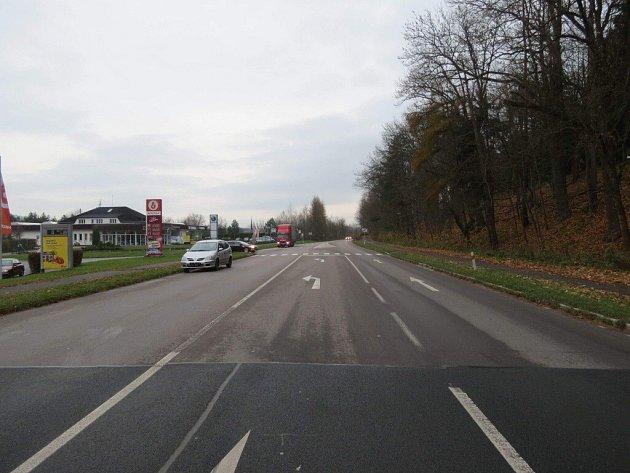 Z nehody v Ústí nad Orlicí.