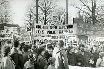 Demonstrace, Vysoké Mýto, 1989.
