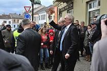 Prezident republiky při návštěvě Chocně.
