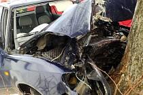 Smrtelná dopravní nehoda v Červené Vodě.