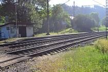 Železniční zastávka Bezpráví.