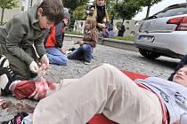 Soutěž mladých zdravotníků v Ústí nad Orlicí.