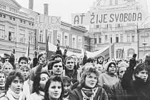 Sametová revoluce v Ústí nad Orlicí.
