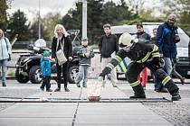 Den bezpečnosti v Atriu Pardubice. Nechyběl ani oheň.