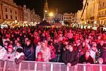 Česko zpívá koledy v Pardubicích na Pernštýnském náměstí.