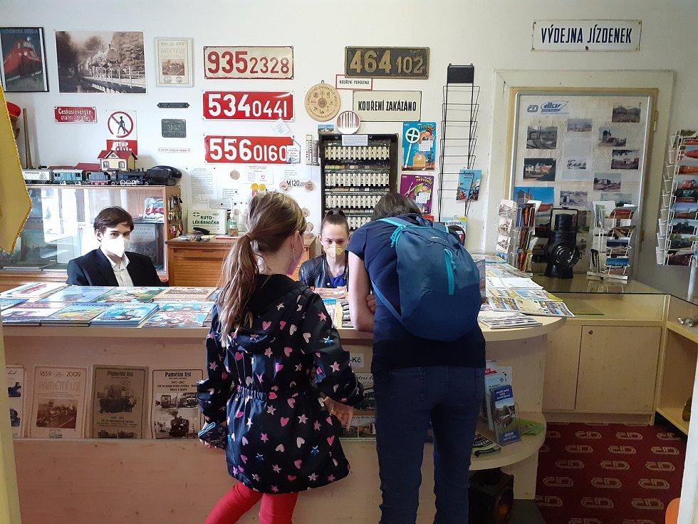 Železniční muzeum v Rosicích se znovu otevřelo návštěvníkům, ale jen do konce května.