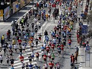 Koloběžci na půlmaratonu