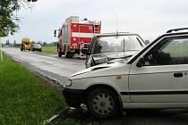 Při nehodě byla zraněna žena s 1,5 ročním dítětem.