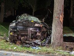 Tragickou dopravní nehodu ve Velinách nepřežil 24letý řidič.