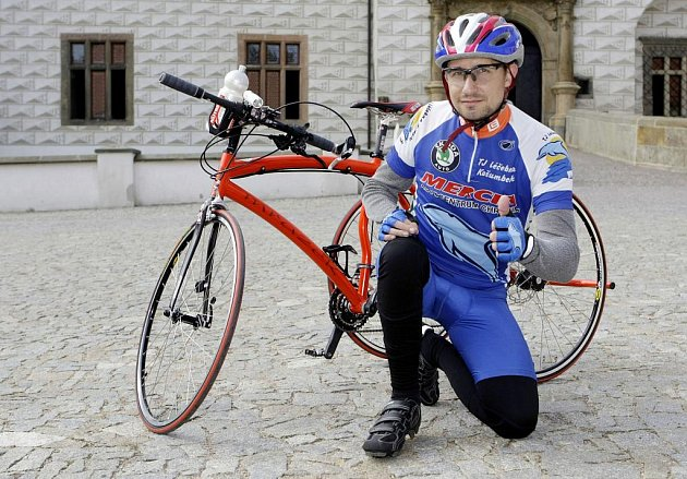 František Vlček na novém tricyklu