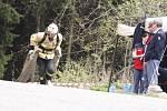 Hrdina s výkony jako z jiné planety. Lukáš Novák, profesionální hasič z Ústí nad Orlicí, trať doslova prolétl. Jediný to dokázal pod tři minuty.