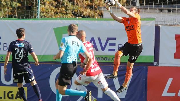 Fotbalové utkání Fortuna:ligy mezi FK Pardubice a FC Viktoria Plzeň.