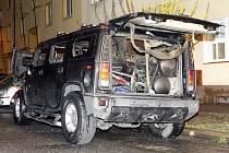 Žhář v Pardubicích zapálil Hummera