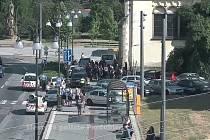 Situaci Městská policie Pardubice označila za parkovací anarchii.