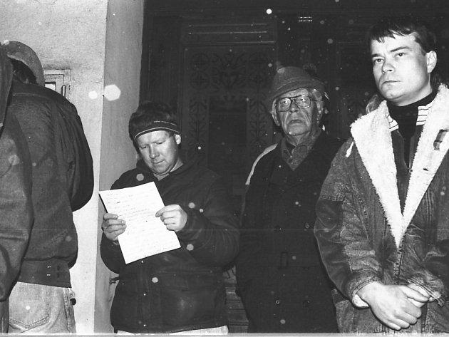 Miroslav Petráň v listopadu 1989