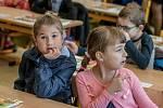 První školní den na ZŠ Benešovo náměstí v I. A.