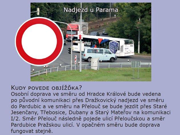 Plánovaná uzavírka křižovatky Paramo