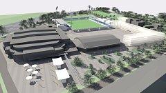 Vizualizace možné podoby Letního stadionu Pardubice a jeho okolí