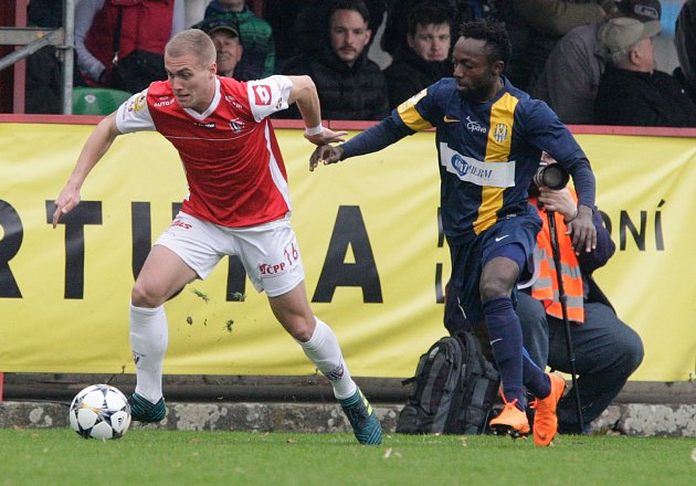 Devatenáctiletý záložník Ladislav Mužík (FK Pardubice).