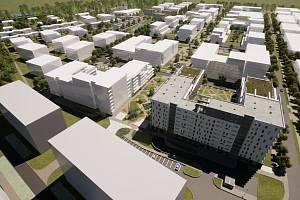 Sídliště U Červeňáku. Stavbu nové čtvrti chce developer zahájit v západní části území již příští rok