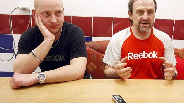 Maséři Libor Hovorka a Martin Mandys (vpravo)